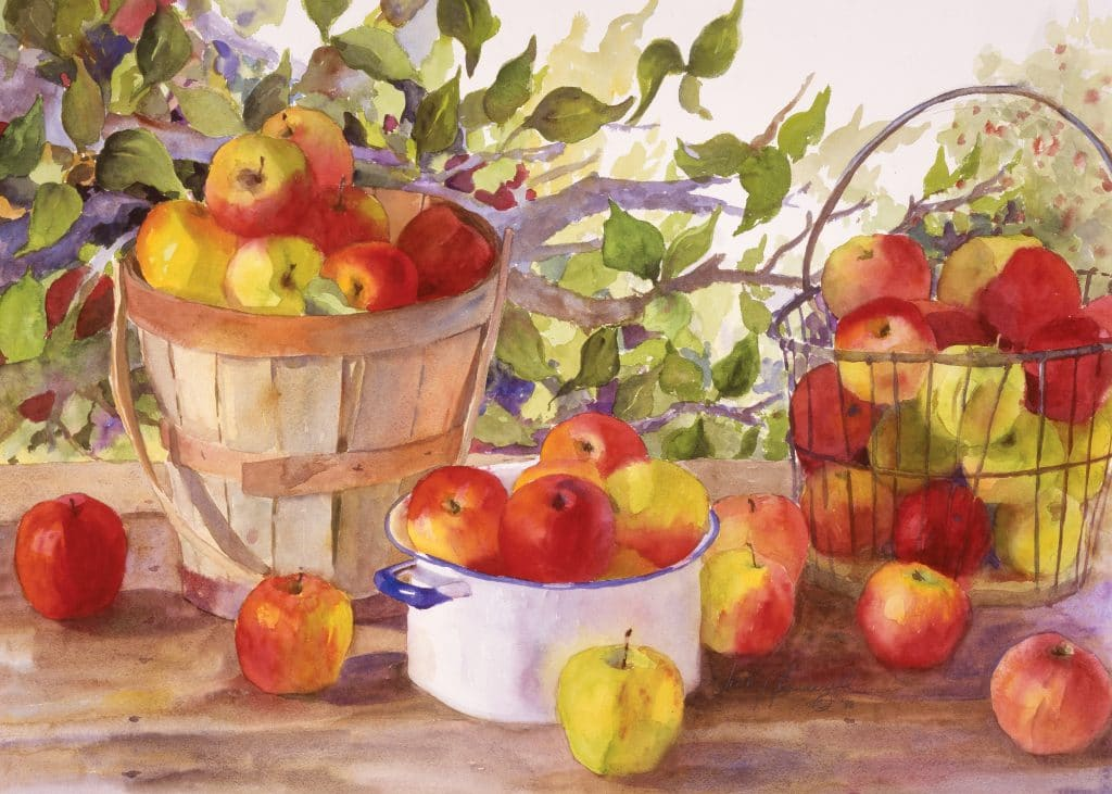 Apple-Harvest-Paint-By-Numbers-For-Adults-Unframed