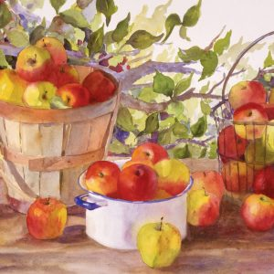 Apple Harvest Paint By Numbers For Adults Unframed scaled