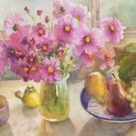Cosmos-From-The-Garden-Paint-By-Numbers-For-Adults-Unframed