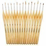 DIY Paint by Numbers for Adults - 15 Piece Fine Tip Brush Set for Macro Detail - Example