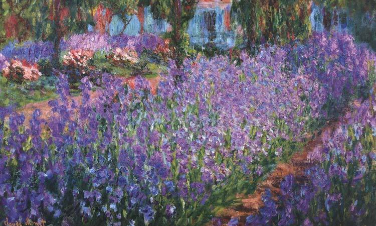 DIY Paint by Numbers for Adults - Inspiration - Artists Garden - Giverny - c 1900 Art