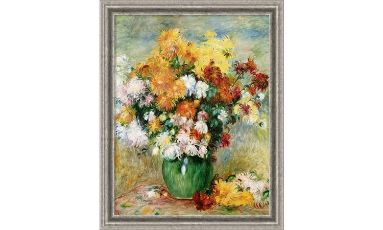 DIY Paint by Numbers for Adults - Inspiration - Canvas Art Bouquet Chrysanthemums - Pierre Auguste