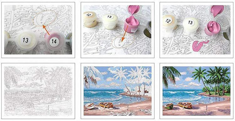 DIY Paint by Numbers for Adults - Inspiration - Painting paint by number kits - Watercolor Octopus