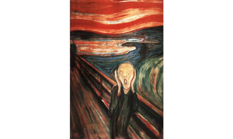 DIY Paint by Numbers for Adults - Inspiration - Scream Nature - Edvard Munch Poster
