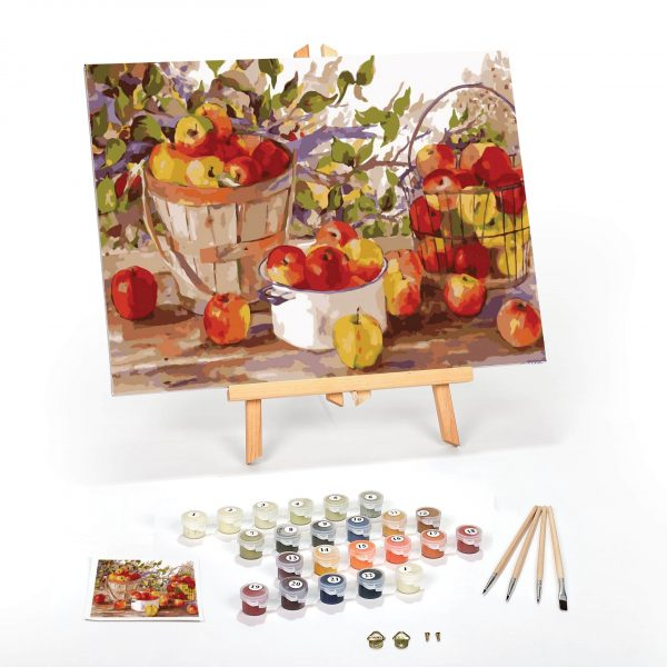 Apple Harvest Paint By Numbers For Adults 12 x 16 framed scaled
