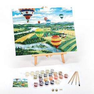 Balooners Rally Paint By Numbers For Adults 12 x 16 framed scaled