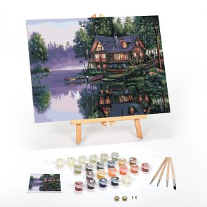 Cabin-Fever-Paint-By-Numbers-For-Adults-12x16-framed