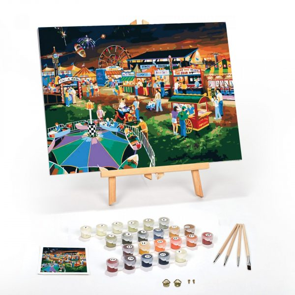 Evening At The Country Fair Paint By Numbers For Adults 16 x 20 framed scaled
