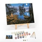 Moonlight-Bay-Paint-By-Numbers-For-Adults-12-x-16-framed
