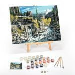 Rails-West-Paint-By-Numbers-For-Adults-12-x-16-framed