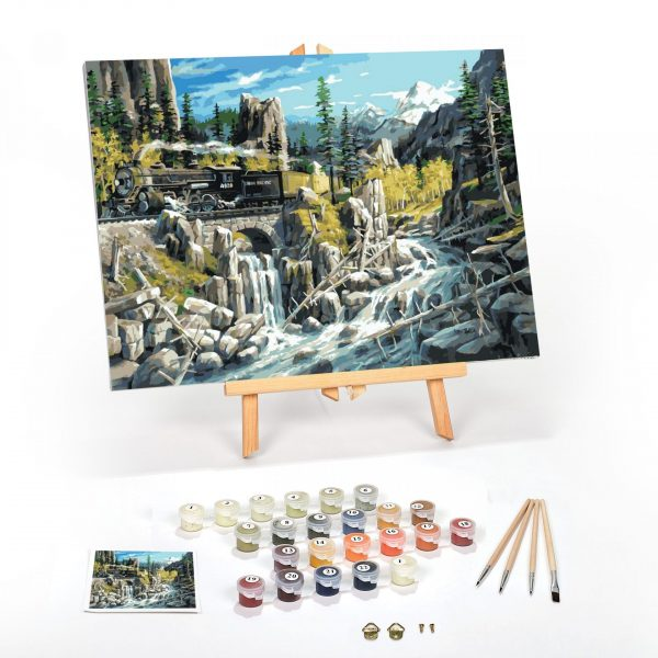 Rails-West-Paint-By-Numbers-For-Adults-16-x-20-framed