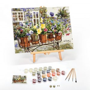 Ritas Pansies Paint By Numbers For Adults 16 x 20 framed scaled