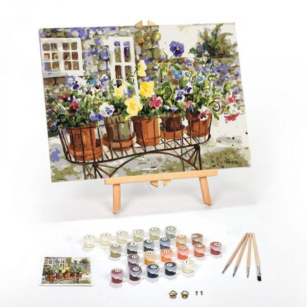 Ritas-Pansies-Paint-By-Numbers-For-Adults-16-x-20-framed