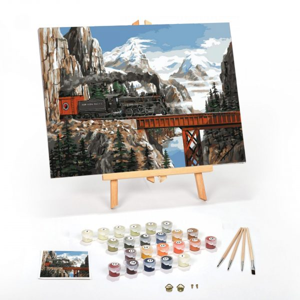Summit Pass Paint By Numbers For Adults 12 x 16 framed scaled