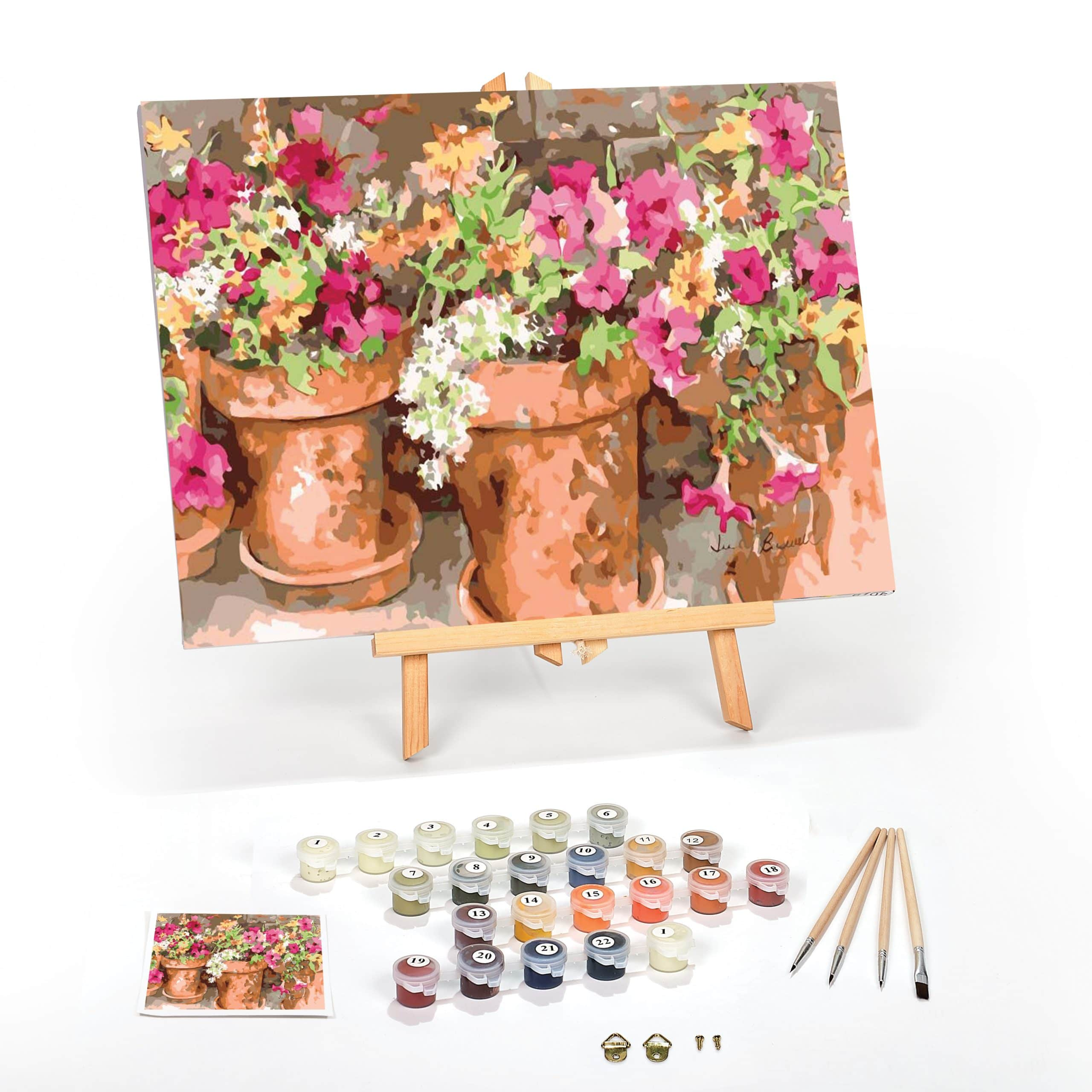 Sweet-Petunias-Paint-By-Numbers-For-Adults-16-x-20-framed