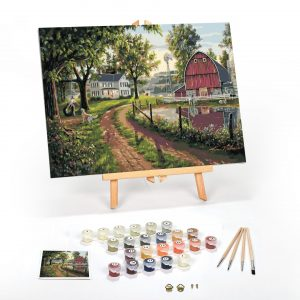 The Road Home Paint By Numbers For Adults 12 x 16 framed scaled