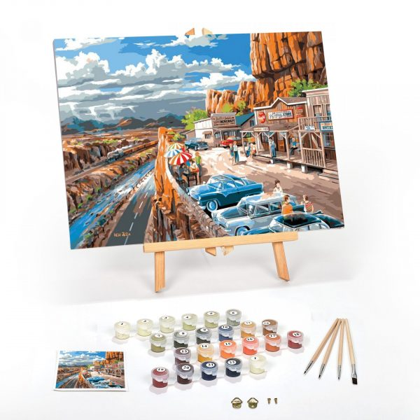 Vacation In The USA Paint By Numbers For Adults 12 x 16 framed scaled