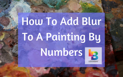 How To Add Blur To A Paint By Numbers