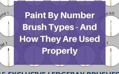 Paint By Number Brush Types – And How They Are Used Properly