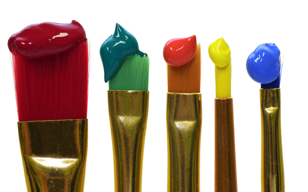 Same Brush for Scooping Paint