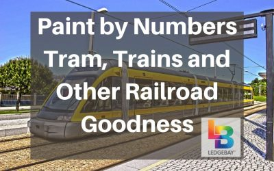 Paint by Numbers Tram, Trains, and Other Railroad Goodness!