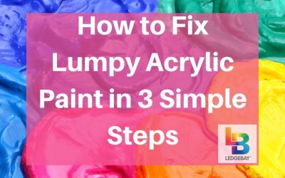 How to Fix Lumpy Acrylic Paint in 3 Simple Steps
