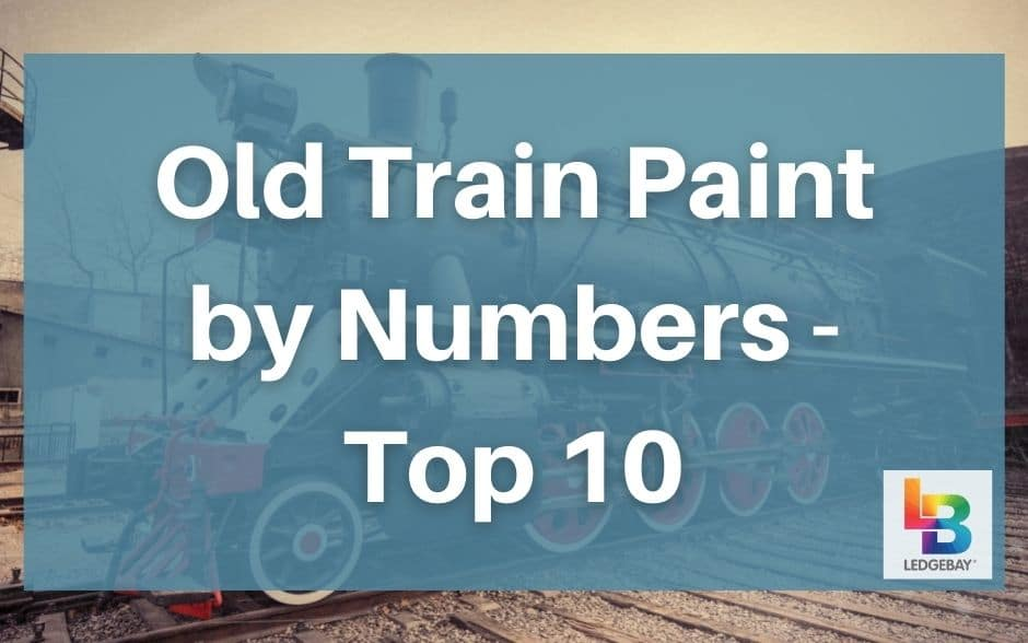 old train paint by numbers